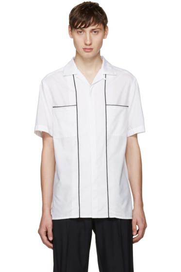 Lanvin - White Open Collar Shirt