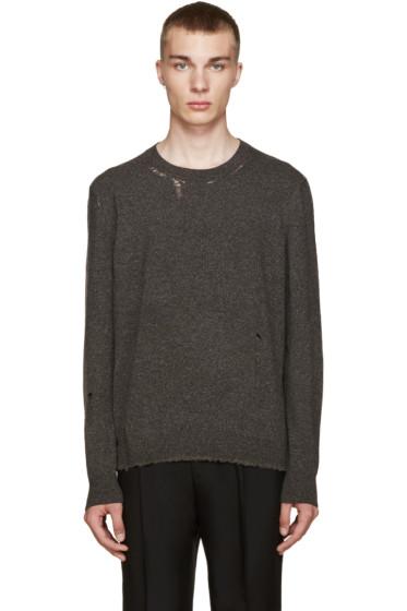 Lanvin - Grey Wool Distressed Sweater