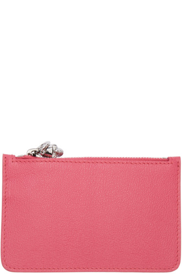 Alexander McQueen - Pink Leather Coin Pouch