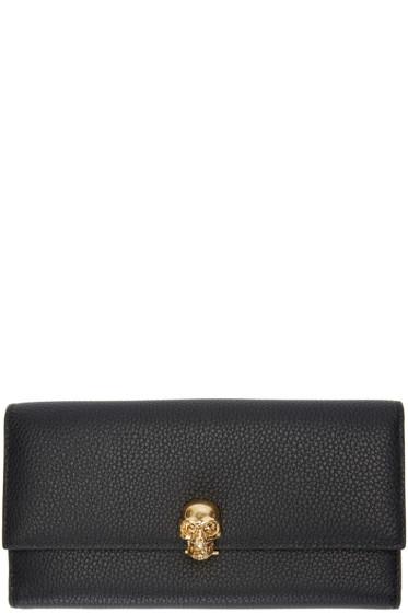 Alexander McQueen - Black Skull Flap Wallet