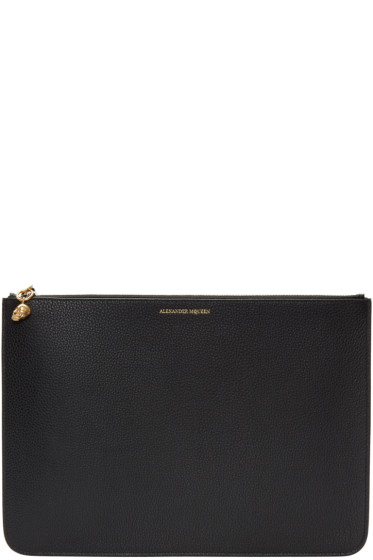 Alexander McQueen - Black Leather Pouch