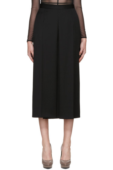 Alexander McQueen - Black Wool Wide-Leg Culottes