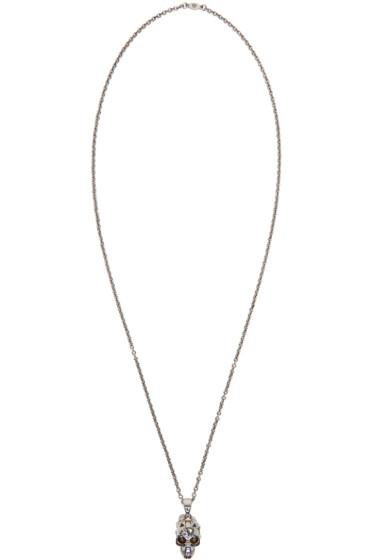 Alexander McQueen - Silver Studded Skull Necklace