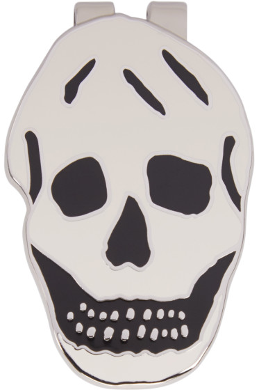 Alexander McQueen - Silver & White Skull Money Clip
