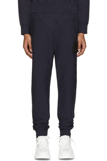Alexander McQueen - Navy Embroidered Lounge Pants