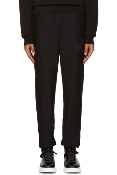 Alexander McQueen - Black Embroidered Skull Lounge Pants