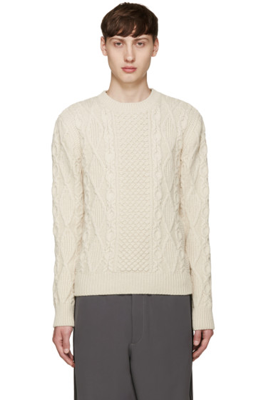 Alexander McQueen - Off-White Cableknit Sweater