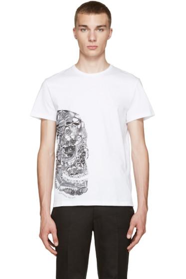 Alexander McQueen - White Butterfly Skull T-Shirt