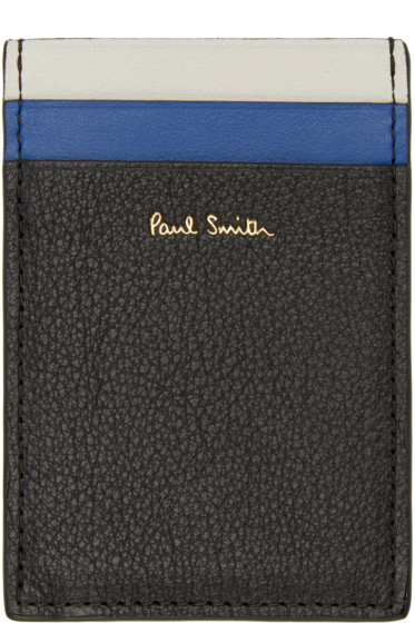 Paul Smith - Black Buffalo North South Card Holder