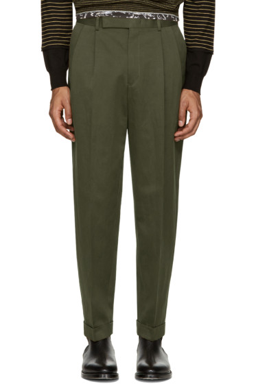 Paul Smith - Green Pleated Trousers
