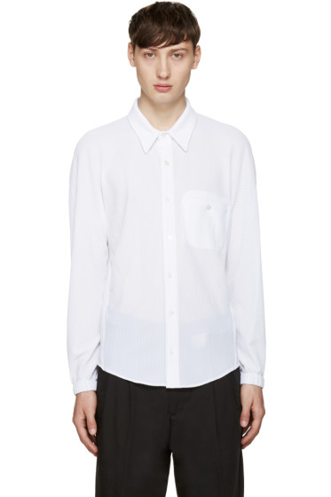Opening Ceremony - White Piqué Dolman Shirt