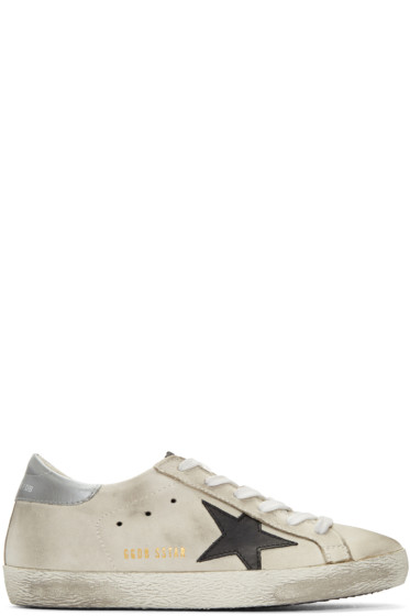 Golden Goose - Off-White Nubuck Superstar Sneakers