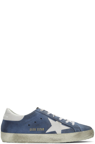 Golden Goose - Blue Suede Superstars Sneakers