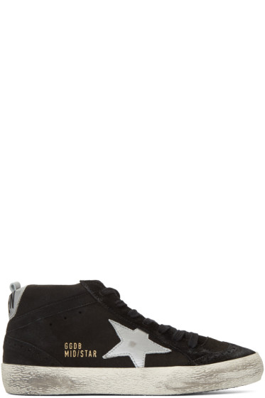 Golden Goose - Black Suede Midstar Mid-Top Sneakers