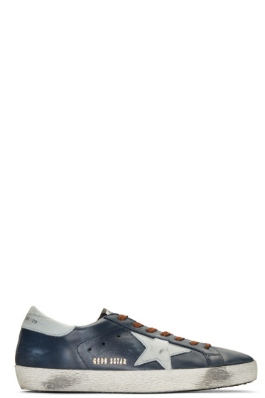 Golden Goose - Blue Superstar Sneakers