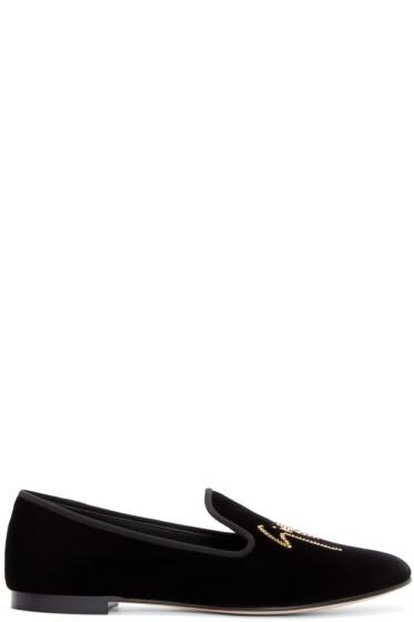 Giuseppe Zanotti - Black Velvet Loafers