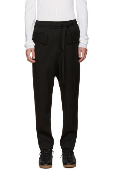 Damir Doma - Black Wool Sarouel Trousers