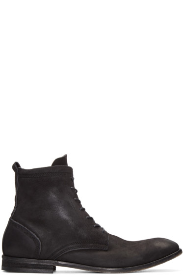 H by Hudson - Black Nubuck Swathmore Boots