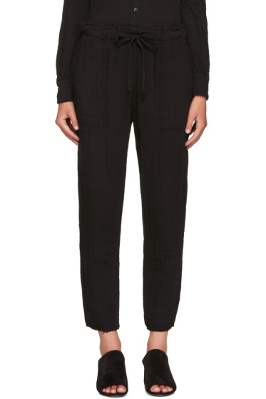 Raquel Allegra - Black Drawstring Trousers