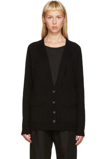 Raquel Allegra - Black Deep V Cardigan
