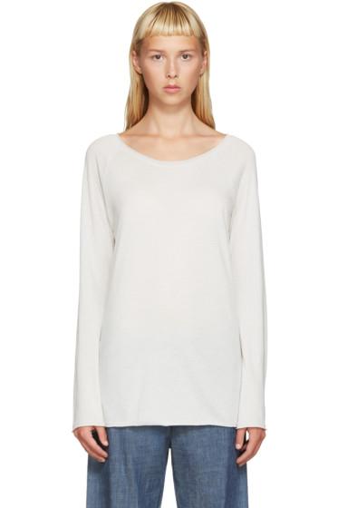 Raquel Allegra - Grey Jersey Raglan T-Shirt