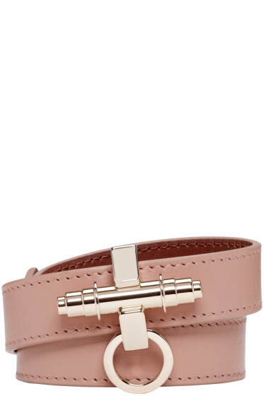 Givenchy - Beige Leather Obsedia Bracelet