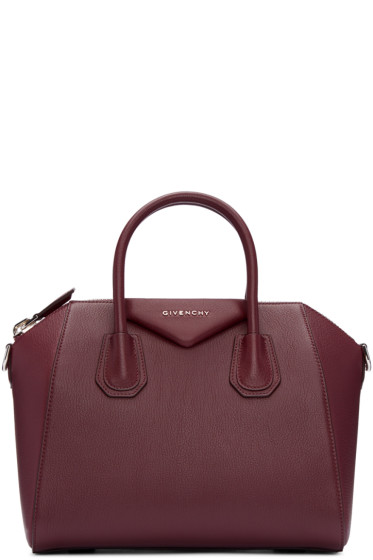 Givenchy - Burgundy Small Antigona Bag