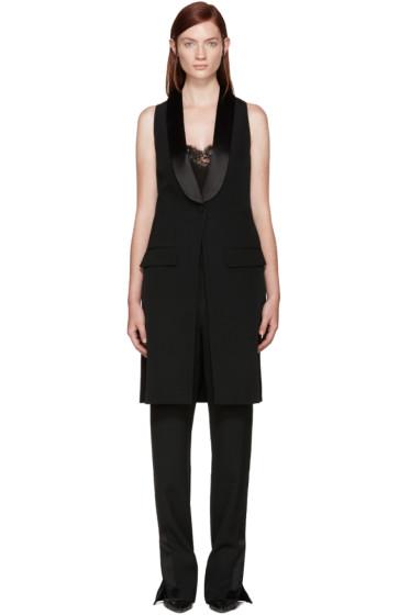 Givenchy - Black Wool Tuxedo Vest