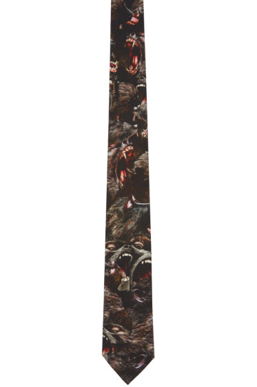 Givenchy - Black Monkey Brothers Tie