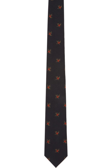 Givenchy - Black Floral Tie