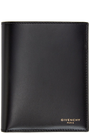 Givenchy - Black Leather Logo Wallet