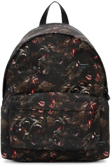 Givenchy - Black Nylon Monkey Backpack