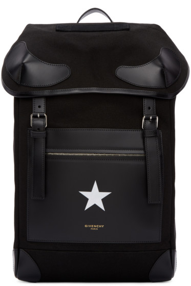 Givenchy - Black Canvas Rider Backpack