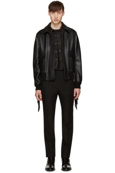 Givenchy - Black Fringed Aviator Jacket