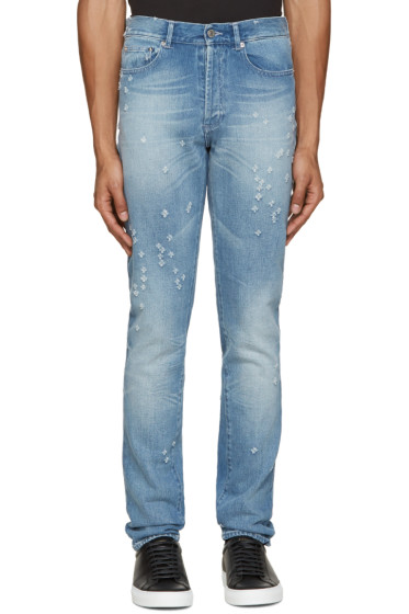 Givenchy - Blue Distressed Jeans