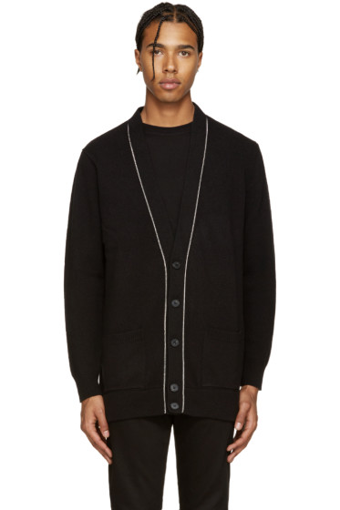 Givenchy - Black Wool Chain Cardigan
