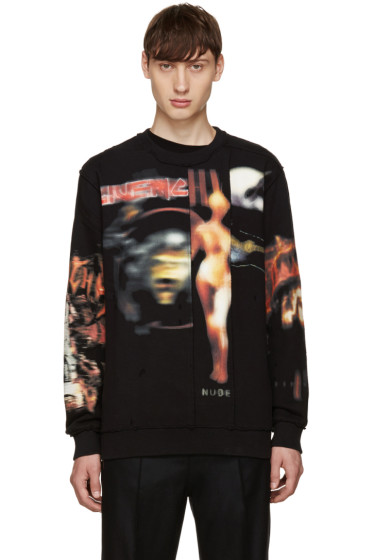 Givenchy - Black Distressed Heavy Metal Sweatshirt