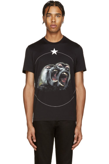 Givenchy - Black Monkey Brothers T-Shirt