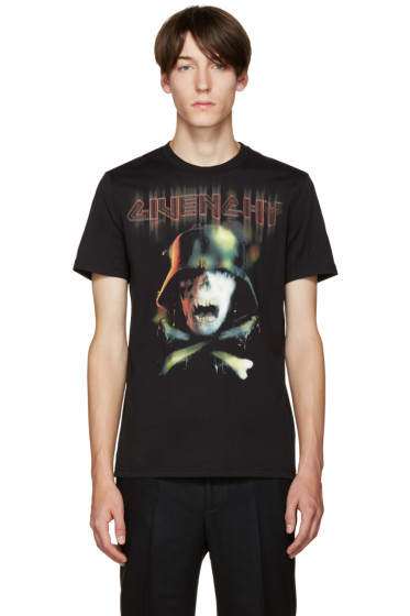 Givenchy - Black Skull T-Shirt