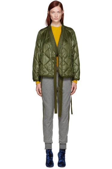 3.1 Phillip Lim - Green Quilted Kimono Jacket