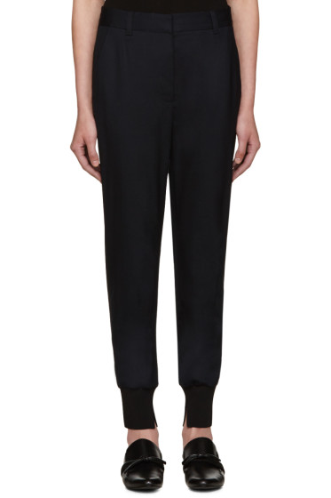 3.1 Phillip Lim - Navy Ribbed Jogger Trousers