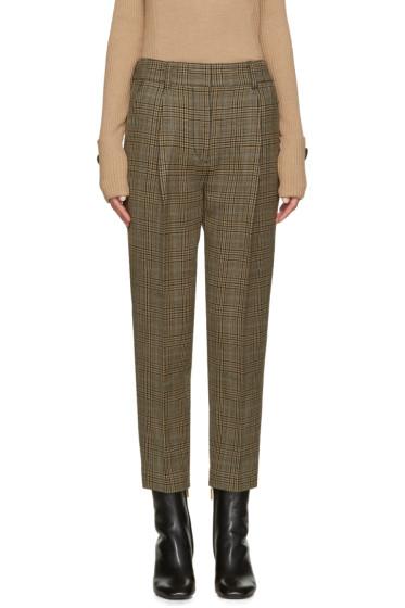 3.1 Phillip Lim - Brown Glen Plaid Carrot Trousers