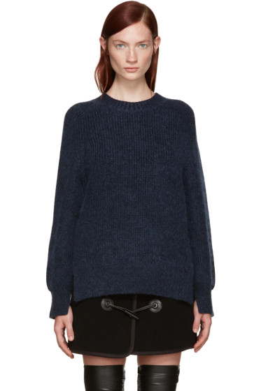 3.1 Phillip Lim - Navy Mohair Saddle Sweater