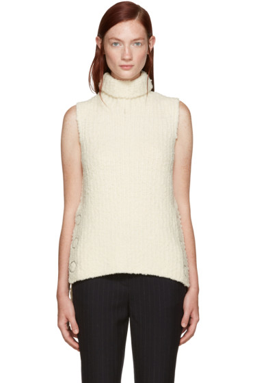 3.1 Phillip Lim - Ivory Textured Wool Turtleneck