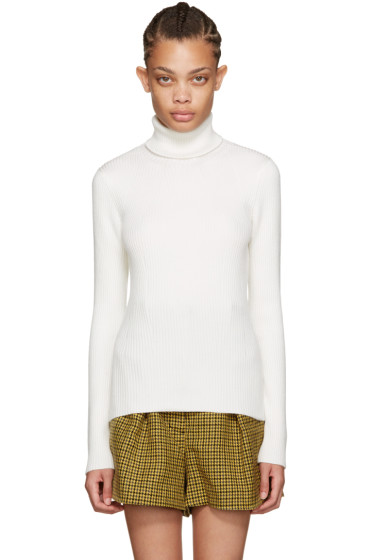 3.1 Phillip Lim - Off-White Ribbed Turtleneck