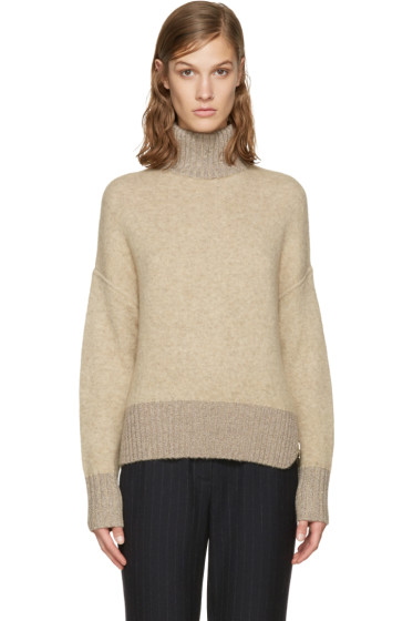 3.1 Phillip Lim - Beige Cocoon Turtleneck