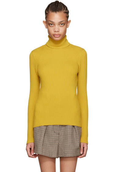 3.1 Phillip Lim - Yellow Ribbed Turtleneck