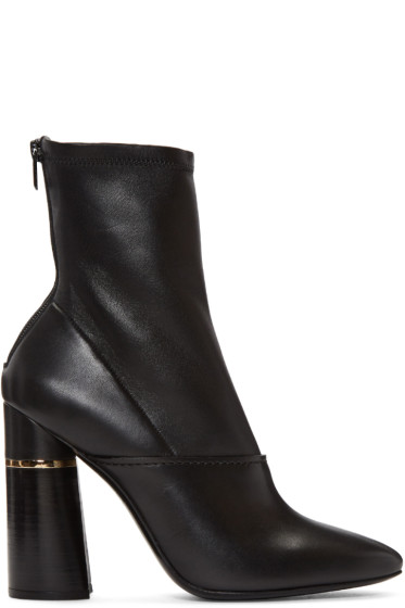 3.1 Phillip Lim - Black Leather Kyoto Boots