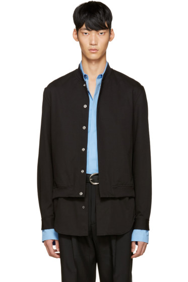 3.1 Phillip Lim - Black Layered Bomber Jacket