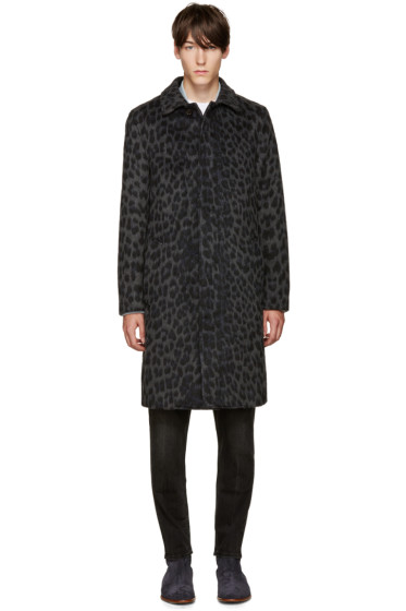 3.1 Phillip Lim - Grey Leopard Classic Car Coat